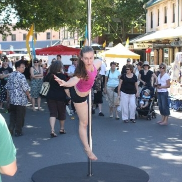 Pole Dancing Hit's the streets at King Street Fair, Newcastle 2008